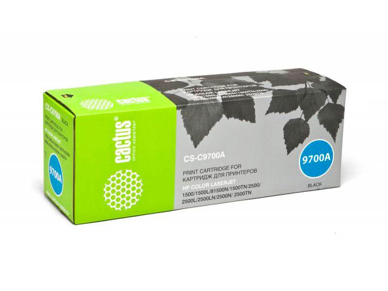 Тонер-картридж Cactus CS-C9700A для HP Color LaserJet 2550/1500/2500 черный 5000стр картридж c9700a