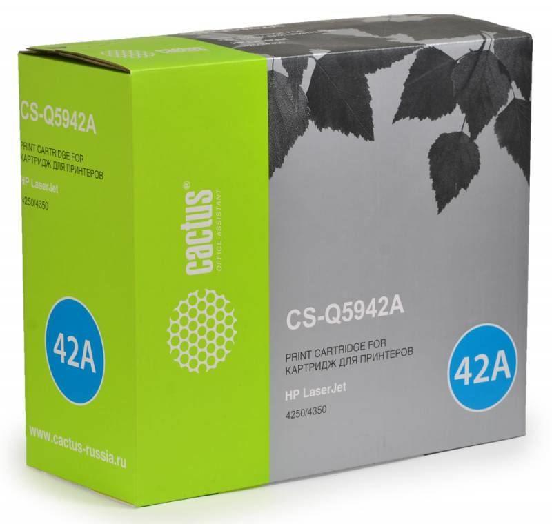 Тонер-картридж Cactus CS-Q5942A для HP LaserJet 4250/4350 черный 10000стр  цена и фото