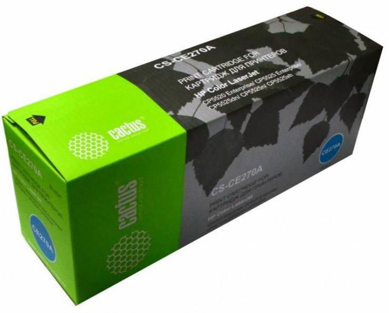 Тонер Картридж Cactus CS-CE270AR черный для HP LJ Ent CP5525 (13000стр.) тонер картридж cactus cs ep22s