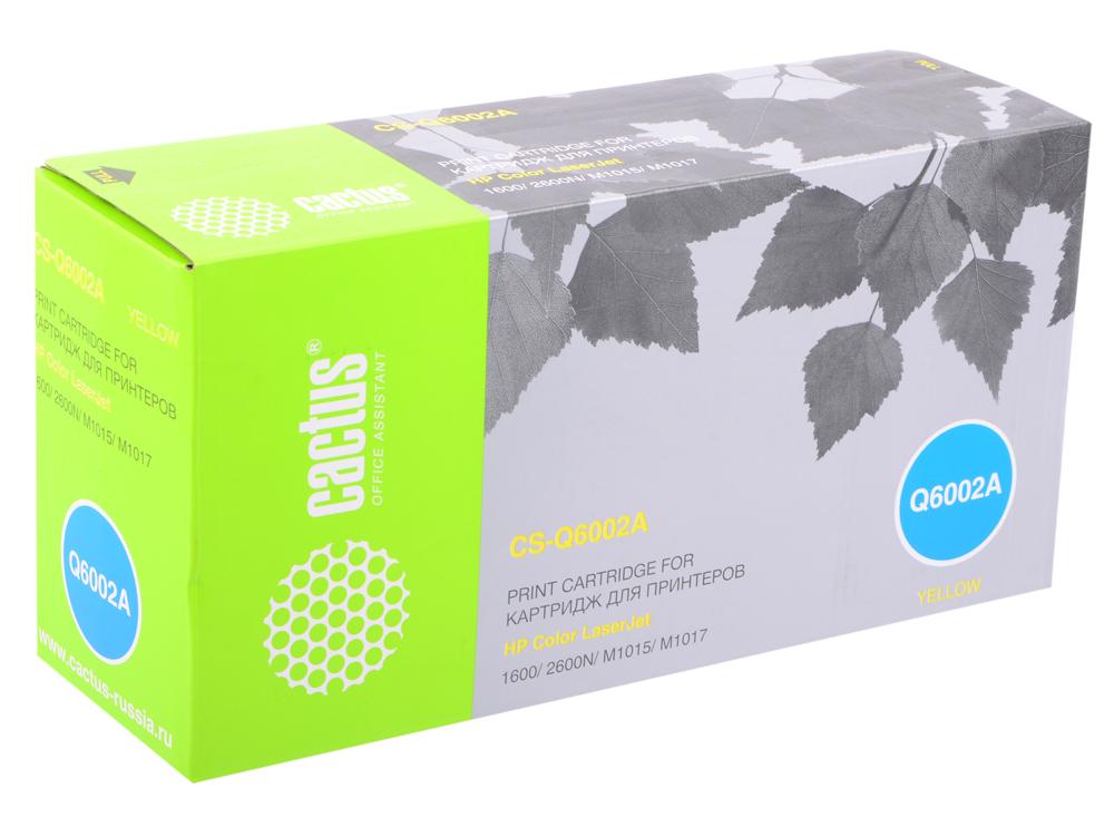 Тонер-картридж Cactus CS-Q6002A для HP 1600/2600N/M1015/M1017 желтый 2000стр