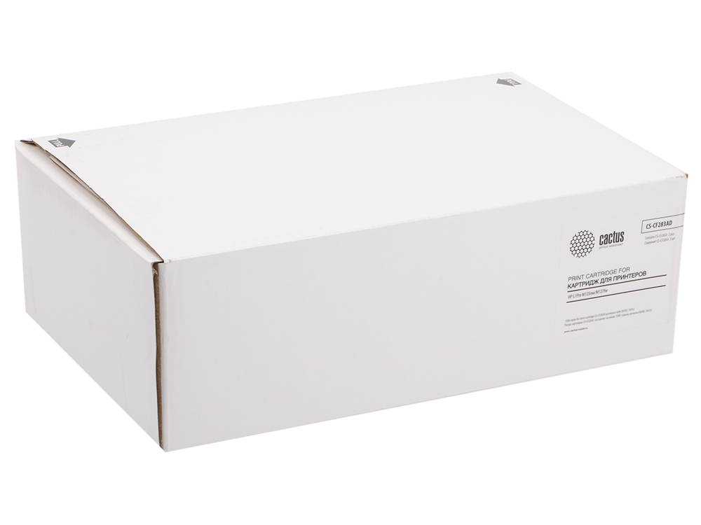 Тонер Картридж Cactus CS-CF283AD черный 2x1500 стр для HP LaserJet M125/127/200/201/202/225 тонер картридж cactus cs ep22s