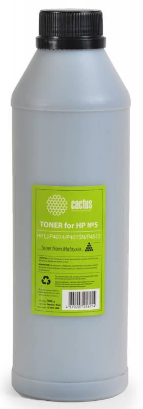 Тонер Cactus CS-THP5-1000 для HP LaserJet P4014 P4015N P4515 черный 1000гр картридж cactus cs cc364a для hp laserjet p4014 p4015 p4515 черный 10000стр