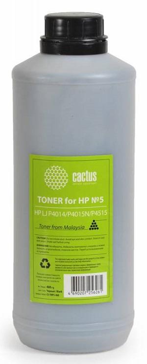 Тонер Cactus CS-THP5-460 для HP LaserJet P4014 P4015N P4515 черный 460гр картридж cactus cs cc364a для hp laserjet p4014 p4015 p4515 черный 10000стр