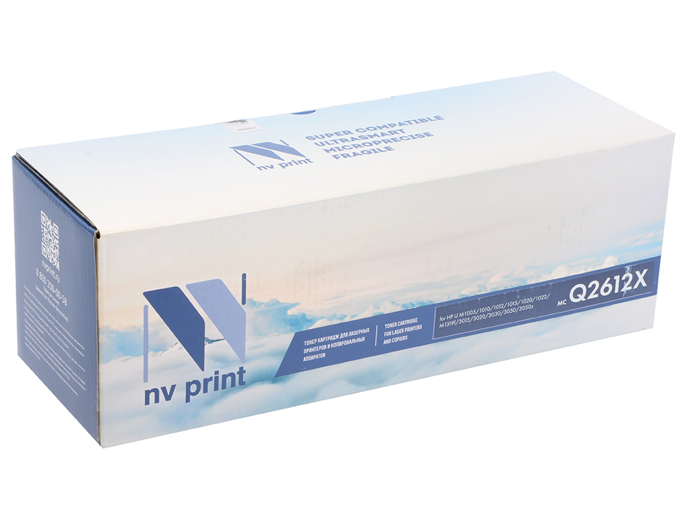 Картридж NV-Print Q2612X для HP LJ 1010 1012 1015 1020 1022 3015 3020 3030 черный 3500стр 2pcs alzenit oem new for hp 1010 1012 1015 1020 3015 3020 3030 charge roller q2612a printer parts