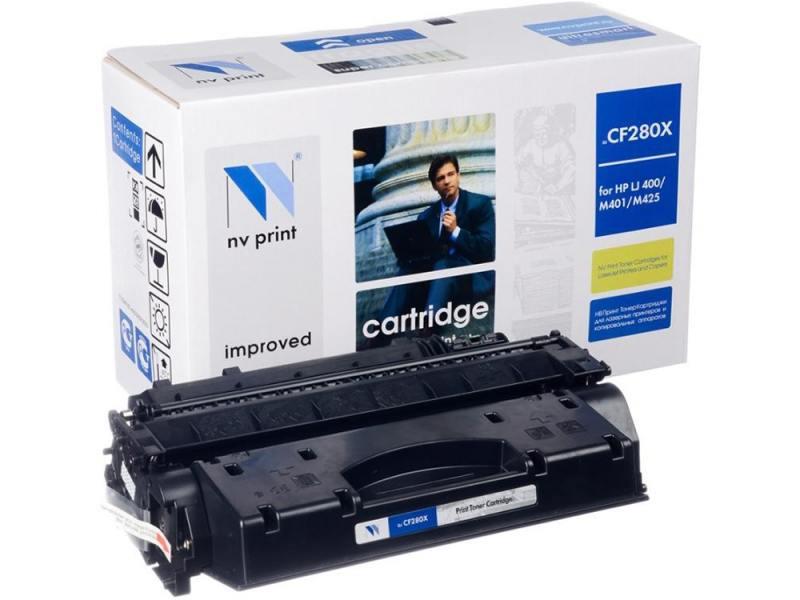 Картридж NV-Print CF280X/CE505X для HP LaserJet Pro M401D M401DW M401DN M401A M401 M425 Pro M425DW M картридж nv print cf283x crg737 для hp laserjet pro 201dw n mfp m225dn dw mf212w canon i sensys mf418x