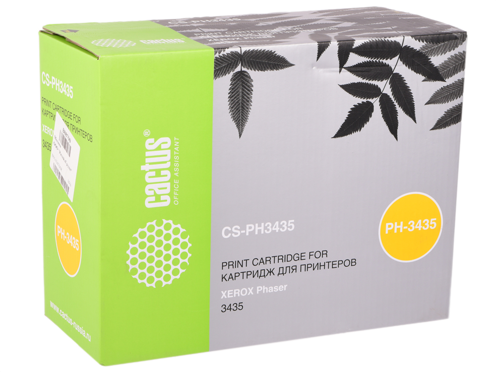 Картридж Cactus CS-PH3435 для Xerox Phaser 3435 черный 10000стр картридж xerox 113r00737 для phaser 5335 чёрный 10000стр