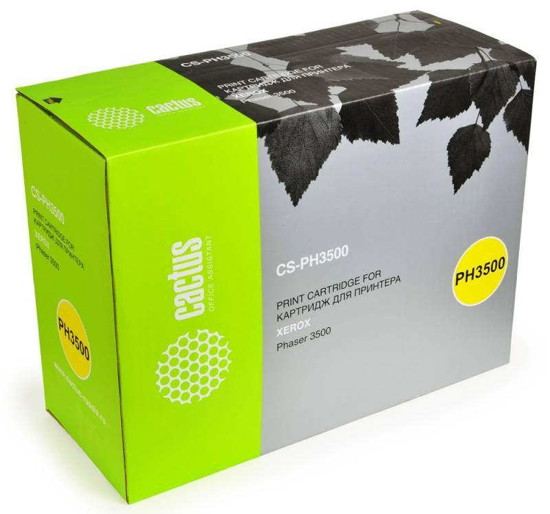 Тонер-картридж Cactus CS-PH3500 106R01149 для Xerox Phaser 3500 3500b черный 12000стр картридж xerox 113r00692 phaser 6120 тонер картридж черный бол емкости