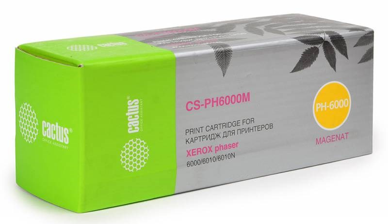 Картридж Cactus CS-PH6000M для Xerox 6000 6010 пурпурный 1000стр cactus cs ph6000m 106r01632