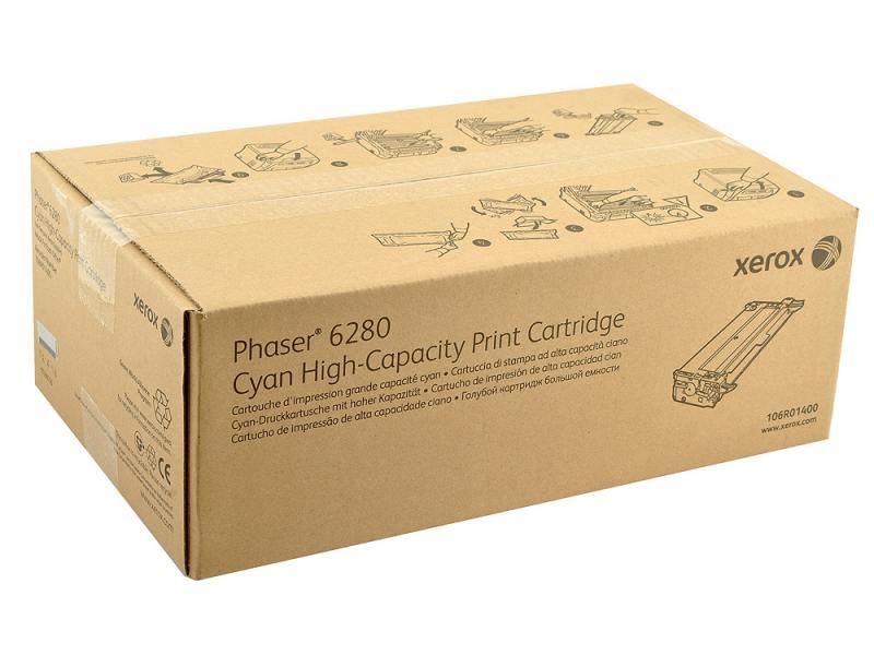 Картридж Xerox 106R01400 для Phaser 6280 Cyan Голубой 5900стр тонер картридж xerox 106r01401 пурпурный для xerox ph 6280 5900стр