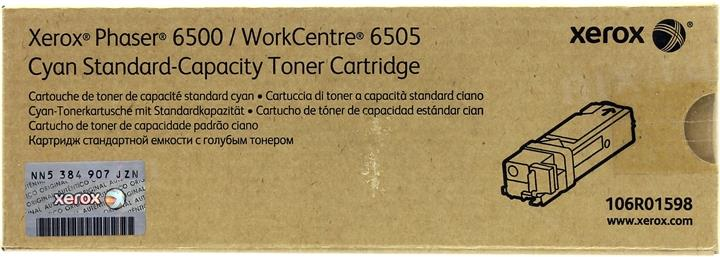 Тонер-картридж Xerox 106R01598 для Phaser 6500 / WorkCentre 6505 голубой 1000стр картридж xerox тонер картридж для phaseк 3500 106r01148