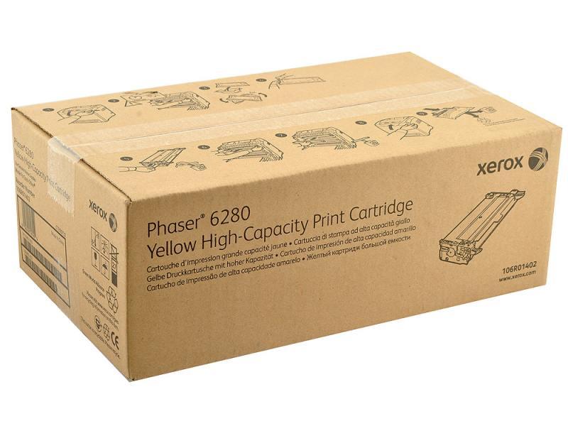 Картридж Xerox 106R01402 для Phaser 6280 Yellow Желтый 5900стр тонер картридж xerox 106r01401 пурпурный для xerox ph 6280 5900стр