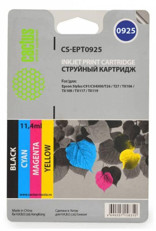 Картридж Cactus CS-EPT0925 для Epson Stylus C91 CX4300 T26 цветной 4шт
