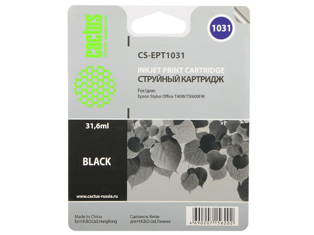 Картридж Cactus CS-EPT1031 для Epson Stylus Office T40 T40w TX600 TX600fw черный картридж cactus cs s1630 черный