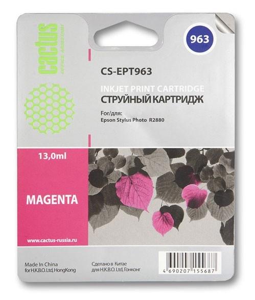 Картридж Cactus CS-EPT963 для Epson Stylus Photo R2880 пурпурный картридж epson t009402 для epson st photo 900 1270 1290 color 2 pack