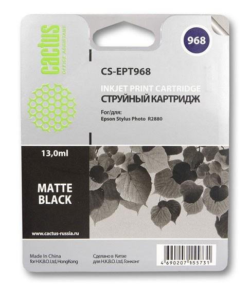 Картридж Cactus CS-EPT968 для Epson Stylus Photo R2880 черный матовый картридж cactus cs ept341 для epson stylus photo 2100 черный