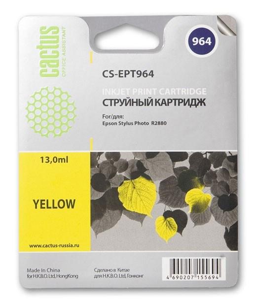 Картридж Cactus CS-EPT964 для Epson Stylus Photo R2880 желтый картридж epson t009402 для epson st photo 900 1270 1290 color 2 pack