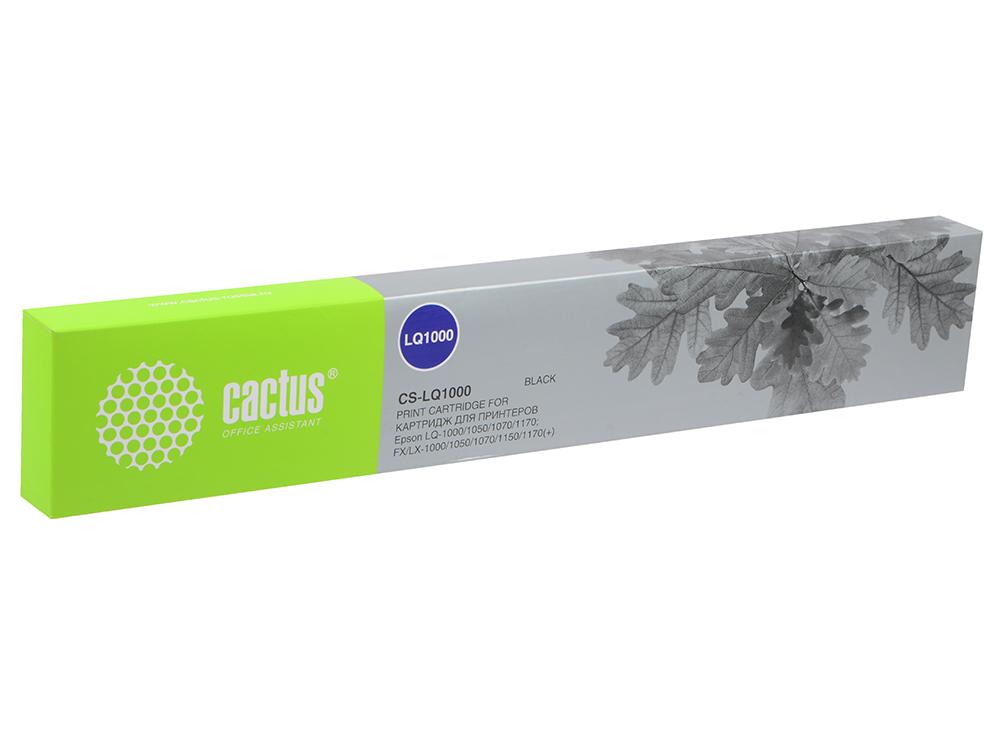 Картридж Cactus CS-LQ1000 для Epson LQ-1000/1050/1070/1170 черный 3000000 знаков принтер epson epson lq 615kii lq 615k версия для печати 82