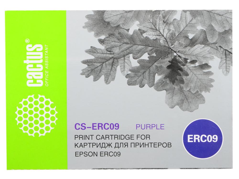 Картридж Cactus CS-ERC09 для Epson ERC09 фиолетовый 280000 знаков картридж cactus cs ept1634 для epson wf 2010 2510 2520 2530 2540 2630 2650 2660 желтый