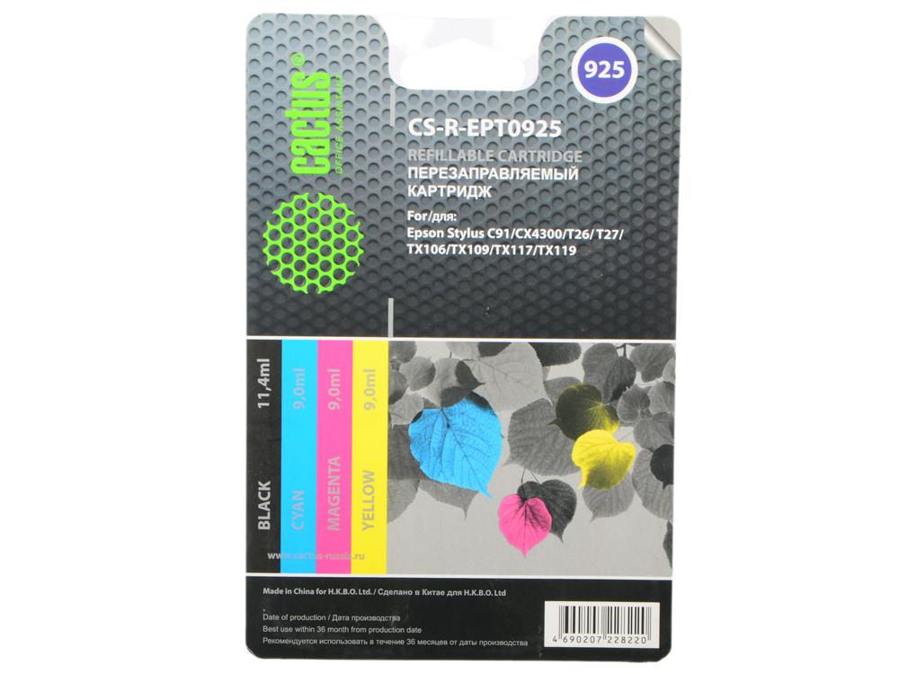 Картридж cactus cs-r-ept0925 для epson stylus c91/cx4300/t26/t27/tx106/tx109/tx117 цветной