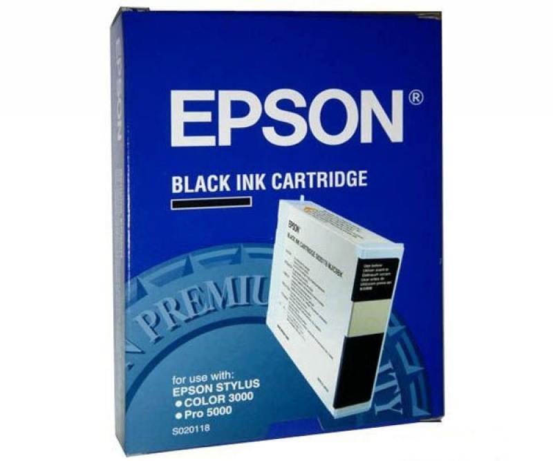 Картридж Epson C13S020118 для Epson Stylus Color 3000/ Pro 5000 черный t5678 t5674 for epson stylus pro 9400 printer ink cartridge with resettable chip and chip resetter 2 4 color 350ml t5678