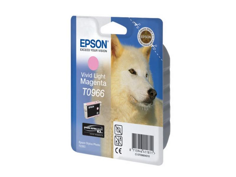 Картридж Epson C13T09664010 T0966 для Epson Stylus Photo R2880 Vivid Light Magenta светло-пурпурный картридж epson t009402 для epson st photo 900 1270 1290 color 2 pack