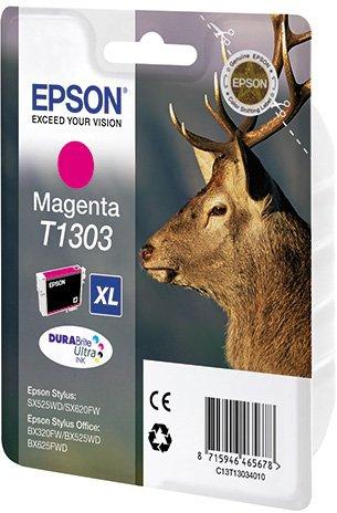 Картридж Epson C13T13034010 T1303 для SX525WD SX620FW BX525WD BX625FWD Magenta Пурпурный цена