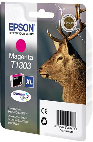 Картридж Epson C13T13034010 T1303 для SX525WD SX620FW BX525WD BX625FWD Magenta Пурпурный