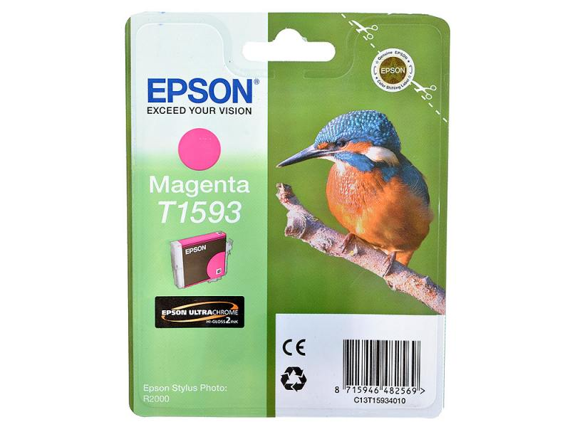 Картридж Epson C13T15934010 для Epson Stylus Photo R2000 пурпурный картридж epson t009402 для epson st photo 900 1270 1290 color 2 pack
