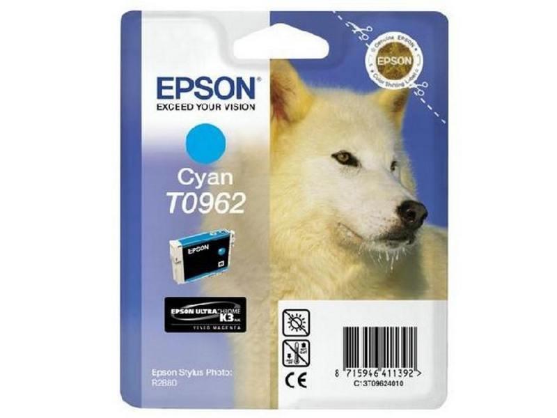 Картридж Epson C13T09624010 T0962 для Epson Stylus Photo R2880 голубой картридж epson t009402 для epson st photo 900 1270 1290 color 2 pack