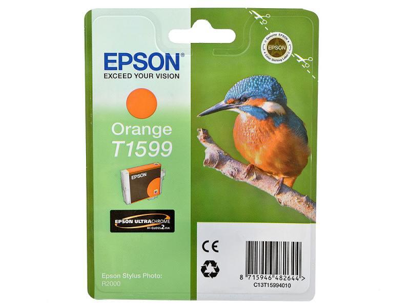 Картридж Epson C13T15994010 T1599 для Epson Stylus Photo R2000 оранжевый картридж epson t009402 для epson st photo 900 1270 1290 color 2 pack