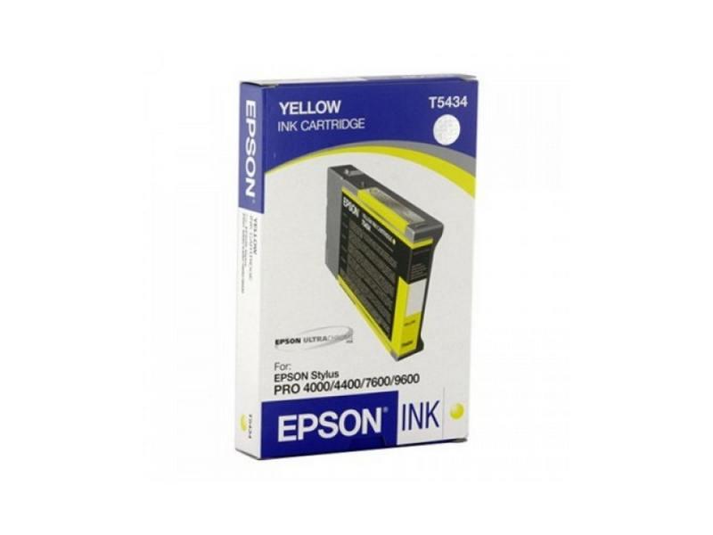 Картридж Epson C13T543400 для Epson Stylus Pro 7600/9600 желтый картридж cactus cs ept1634 для epson wf 2010 2510 2520 2530 2540 2630 2650 2660 желтый
