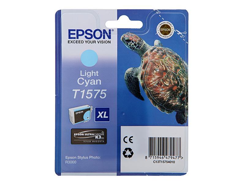 Картридж Epson C13T15754010 для Epson Stylus Photo R3000 светло-голубой картридж epson t009402 для epson st photo 900 1270 1290 color 2 pack
