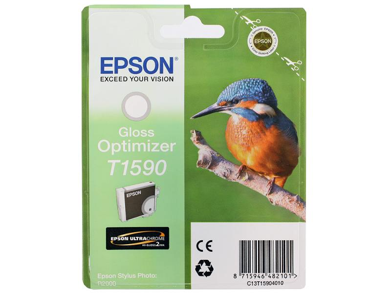 Картридж Epson C13T15904010 Optimizer T1590 C13T15904010 для Epson Stylus Photo R2000 Gloss глянцевы картридж epson t1590 оптимизатор глянца [c13t15904010]
