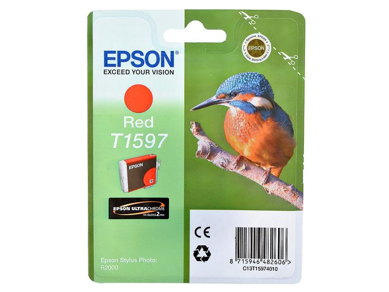 Картридж Epson C13T15974010 T1597 для Epson Stylus Photo R2000 красный картридж epson t009402 для epson st photo 900 1270 1290 color 2 pack