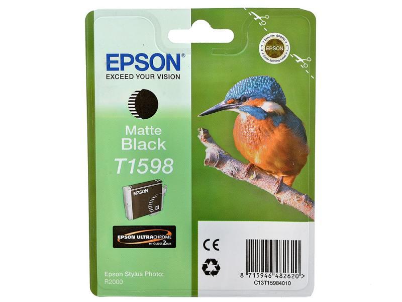 Картридж Epson C13T15984010 T1598 для Epson Stylus Photo R2000 матовый черный картридж epson t009402 для epson st photo 900 1270 1290 color 2 pack