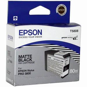 Картридж Epson C13T580800 для Epson Stylus Pro 3800 матовый черный картридж epson t1291 черный [c13t12914011]