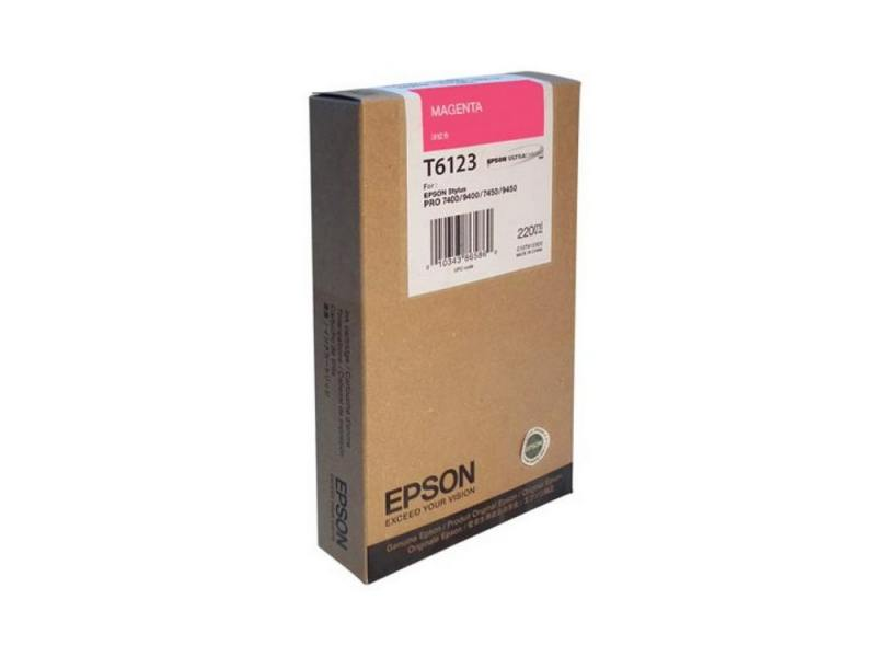 Картридж Epson C13T612300 для Stylus Pro 7400/9400 пурпурный 220мл t5678 t5674 for epson stylus pro 9400 printer ink cartridge with resettable chip and chip resetter 2 4 color 350ml t5678