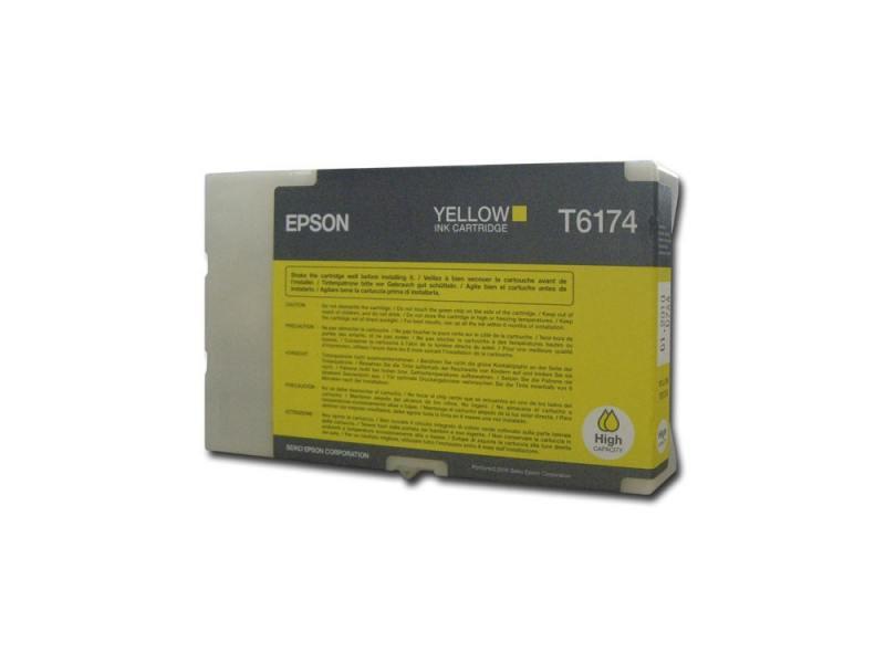 Картридж Epson C13T617400 для Epson B300/B500DN/B510DN желтый картридж epson t6174 yellow для b500 510dn c13t617400 большая емкость