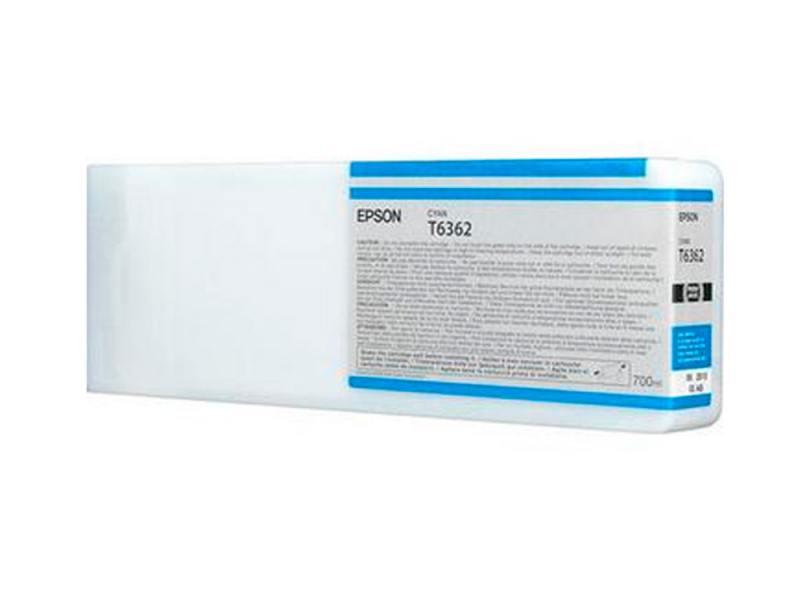 Фото - Картридж Epson C13T636200 для Epson Stylus Pro 7900/9900 голубой картридж струйный epson t6361 c13t636100 фото черный 700мл для epson stylus pro 7900 9900