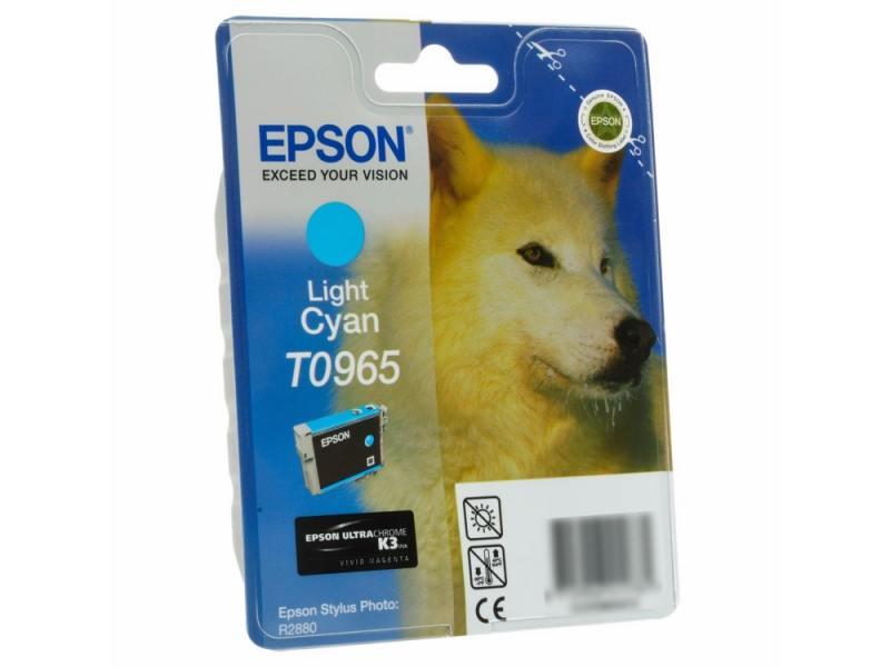 Картридж Epson Е0965 С13T09654010 светло-голубой К2880 картридж epson original t67354a светло голубой для l800