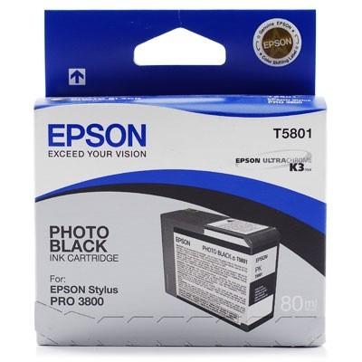 Картридж Epson T580100 для Epson Stylus Pro 3800 Photo черный 80мл картридж epson t009402 для epson st photo 900 1270 1290 color 2 pack