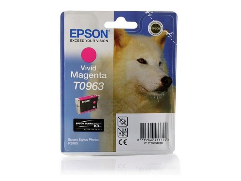 Картинка для Картридж Epson C13T09634010 T0963 для Epson Stylus Photo R2880 Vivid Magenta пурпурный