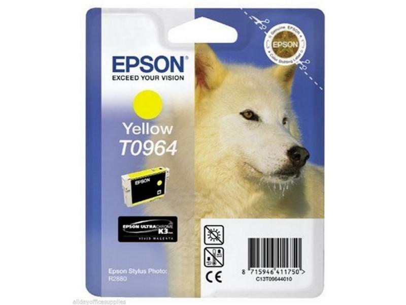 Картридж Epson C13T09644010 T0964 для Epson Stylus Photo R2880 желтый картридж epson t009402 для epson st photo 900 1270 1290 color 2 pack