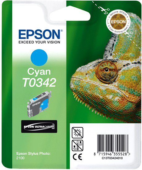 Картридж Original Epson [T034240] для Epson Stylus Photo 2100 Cyan картридж epson t009402 для epson st photo 900 1270 1290 color 2 pack