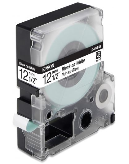 Лента Epson LC-4WBN9 для Epson LabelWorks LW-300/LW-400/LW-400VP/LW-700/LW-900P черный цена