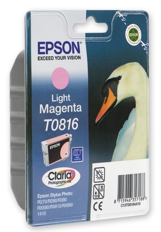 Картридж Epson C13T11164A10/C13T08164A10 для Epson Stylus Photo R270/R390/RX590 светло-пурпурный original cc03main mainboard main board for epson l455 l550 l551 l555 l558 wf 2520 wf 2530 printer formatter