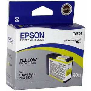 Картридж Epson C13T580400 для Epson Stylus Pro 3800 желтый картридж epson stylus pro 3800 c13t580700