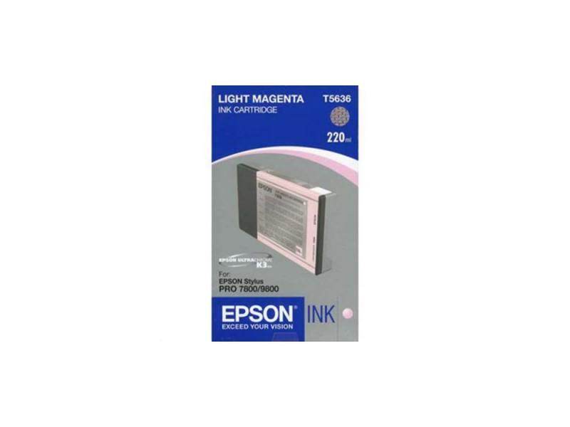 Картридж Epson C13T603C00 для Epson Stylus Pro 7800/9800 светло-пурпурный