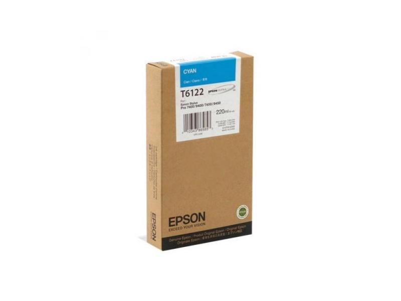 Картридж Epson C13T612200 для Epson Stylus Pro 7400/9400 голубой t5678 t5674 for epson stylus pro 9400 printer ink cartridge with resettable chip and chip resetter 2 4 color 350ml t5678
