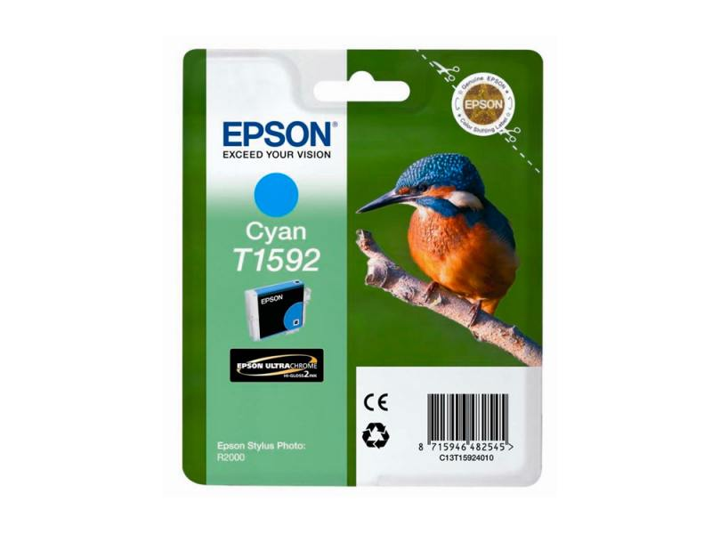 Картридж Epson для Stylus Photo R2000 T1592 C13T15924010 Cyan Голубой картридж epson t009402 для epson st photo 900 1270 1290 color 2 pack